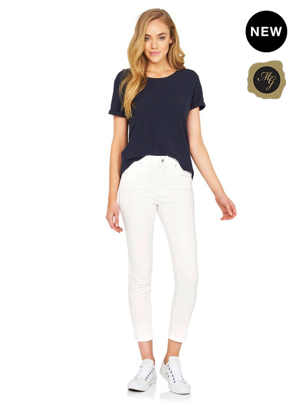 Tess High Rise Super Skinny Ankle Star White Gold Icon - Mavi Jeans