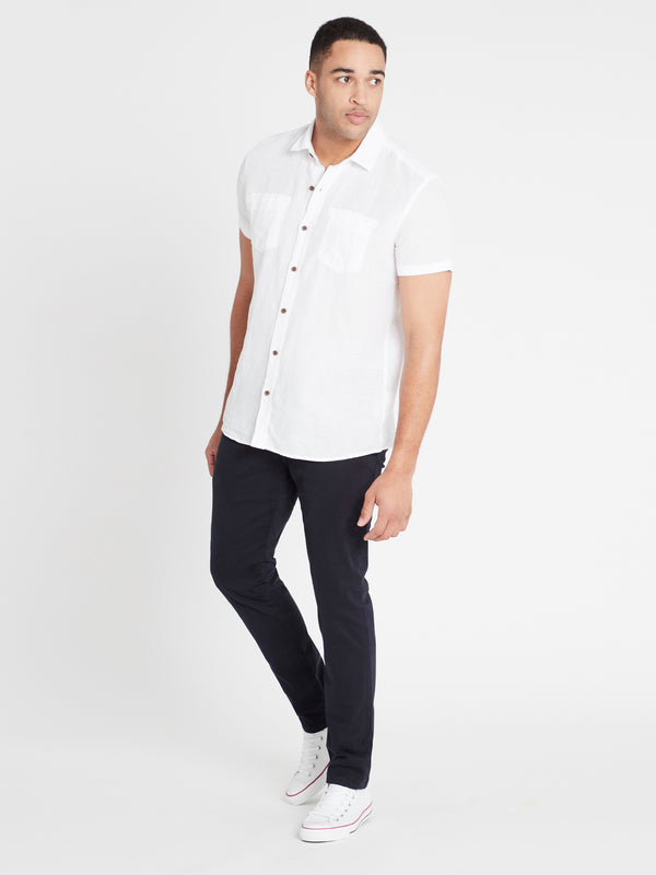 Mens Short Sleeve Shirt White - Mavi Jeans