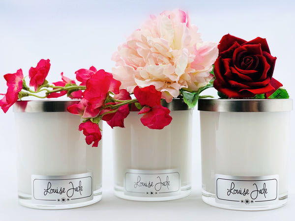'Flower Bouquet' Large Candle Collection