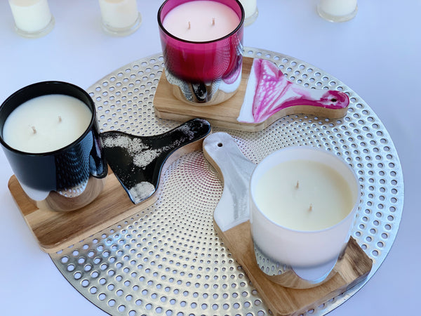 Resin Board & Large Size Candle Combo