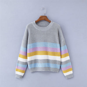 Stripe Soft Knitted Sweater