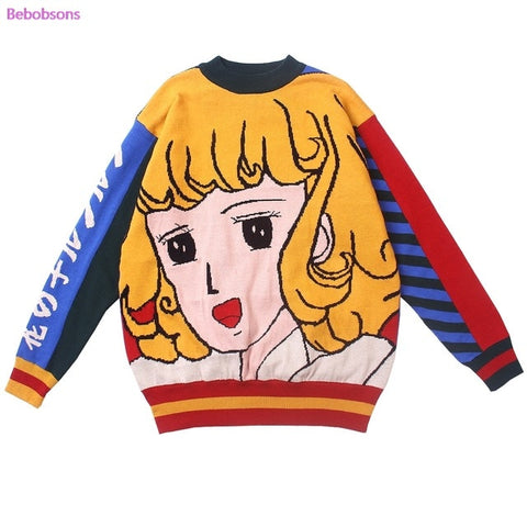 Anime Print Sweater