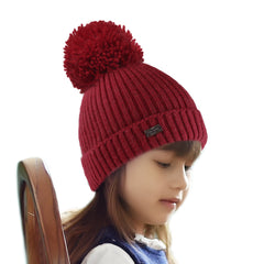 FURTALK Kids Winter Yarn Bobble Hat Drop Shipping A051