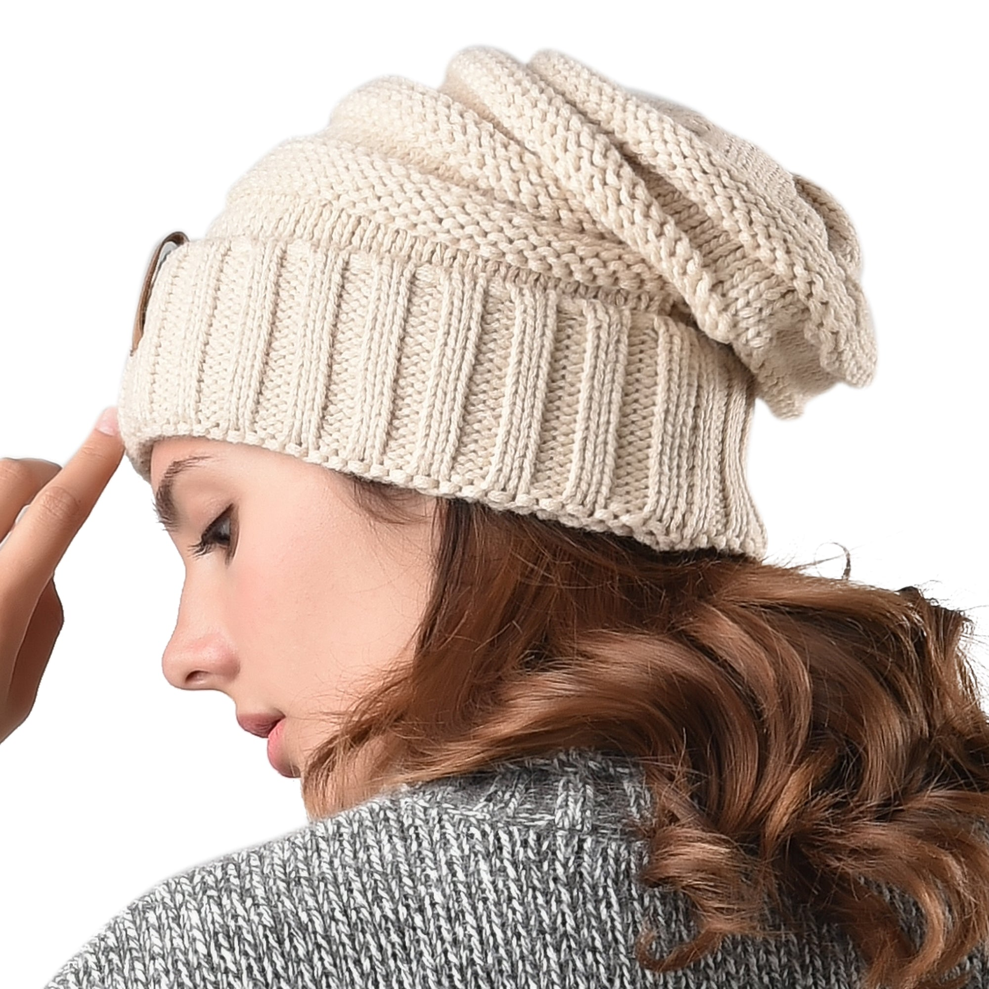 FURTALK Women Winter Slouchy Beanies Hat Drop Shipping  A047