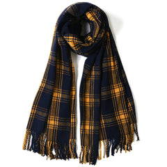 FURTALK  Women Winter Cashmer Hand Feeling Scarf Pinstripe Customize SFFW041