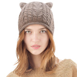 FURTALK Women Winter Cat Ear  Beanies Hat  Drop Shipping B012