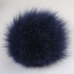 Real Fox Fur Pom Pom Snap Style Drop Shipping