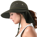 FURTALK Summer Ponytail Wide Brim Sun hat Outdoor Drop Shipping SH056