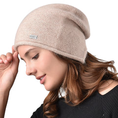FURTALK  Women Winter  Slouchy Beanie Hats with Opeaning  Drop Shipping AD005