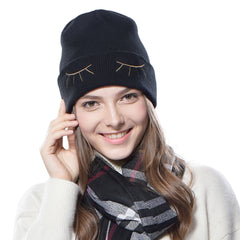 FURTALK Women Winter Beanies Hat Eyes Pattern  Drop Shipping HTWL036