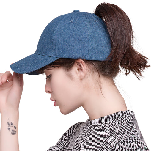 FURTALK Summer Women Ponytail Cowboy Baseball Cap Drop Shipping HTPU008