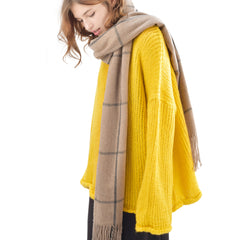 FURTALK Winter Women Cashmere Handfeeling Scarf  Nine squares Drop Shipping SFFW028