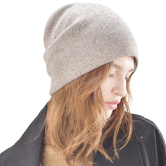 FURTALK Winter Women Beanie Hat with Sequin Drop Shipping  B017