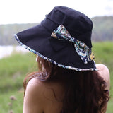 FURTALK Women Summer Sun Buckect Hat Bow Fora Droping Shipping SH004