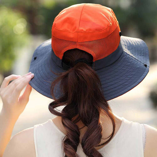 FURTALK Summer Ponytail Wide Brim Sun hat Outdoor Drop Shipping SH053