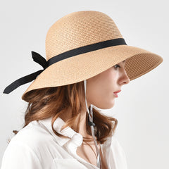 FURTALK Women Summer Paper Straw Sun Hat  Narrow  Brim Parents- Child  Drop Shipping SH022