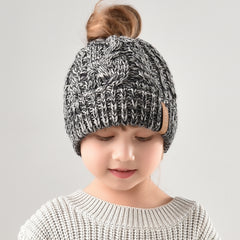 FURTALK Winter Unisex Kids Ponytail Beanies Hat CH003