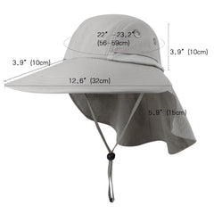 Camptrace Summer Ponytail Wide Brim Sun hat Outdoor Drop Shipping SH056