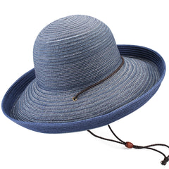 FURTALK Women Paper Straw Beach Hat Circle Stripes Drop Shipping SH052