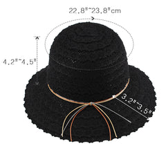 FURTALK Women Narrow Sun Beach  Hat Hollow outDrop Shipping SH023