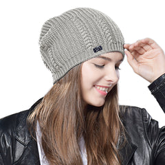 FURTALK Woman Knitted  Slouchy Beanie Hat HTWL044