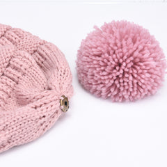 FURTALK Winter Women Yarn Pom Pom Hat Drop Shipping A003