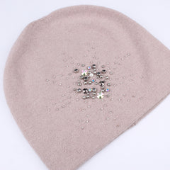 FURTALK Winter Women Beanie Hat Flower Pattern Sequin Drop Shipping B013