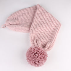 FURTALK Winter Women Real Fur Pom Pom Hat and Scarf Drop Shipping AD003