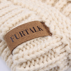 FURTALK Winter Women Ponytail Beanie Hat Drop Shipping SFFW035