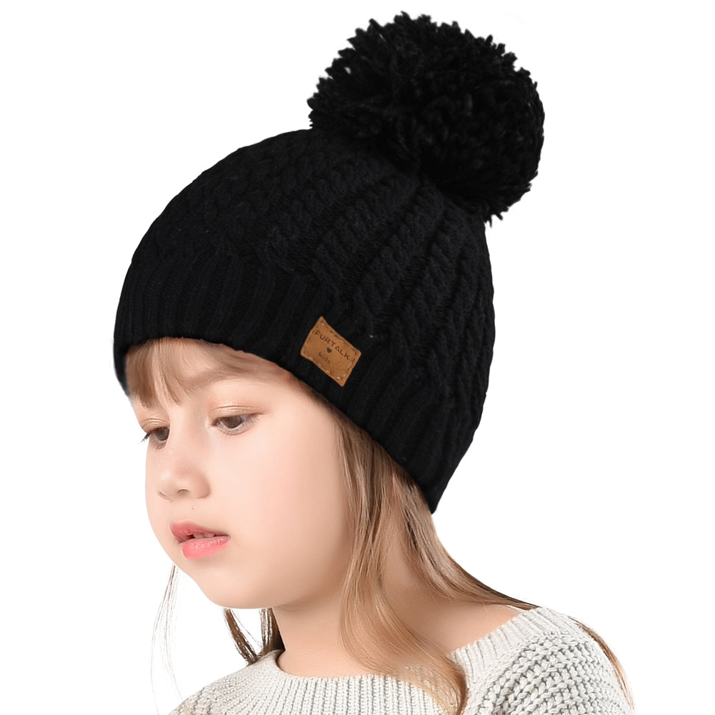 FURTALK Child Winter Yarn Bobble Hat Drop Shipping CH019