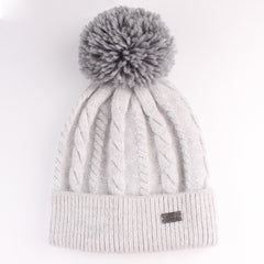 FURTALK Women Winter  Yarn Pom Pom Hat Drop Shipping AD001