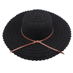 FURTALK Women Summer Wide Brim Sun Beach Hat Hollow out Drop Shipping SH001