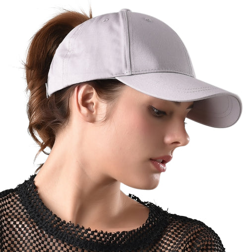 FURTALK Summer Women Messy Bun Dad Hat  Drop Shipping HTPU007