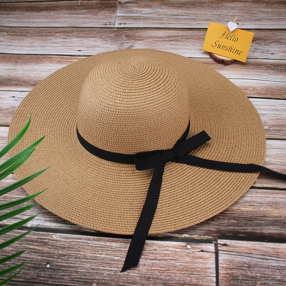FURTALK Women Summer Wide Brim Sun Beach Hat with Ribbon  Drop Shipping SH024