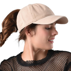 FURTALK Summer Couple Ponytail Baseball Cap Drop Shipping SH049