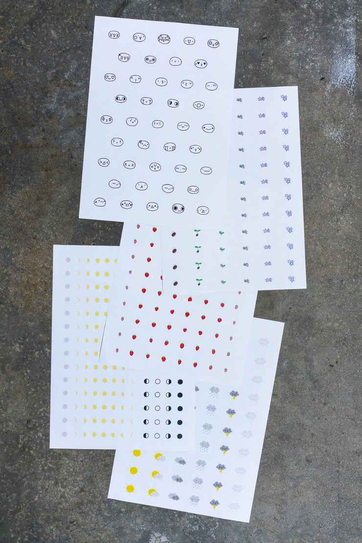 sticker sheets (for journals)