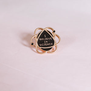 Believe in Science Enamel Pin