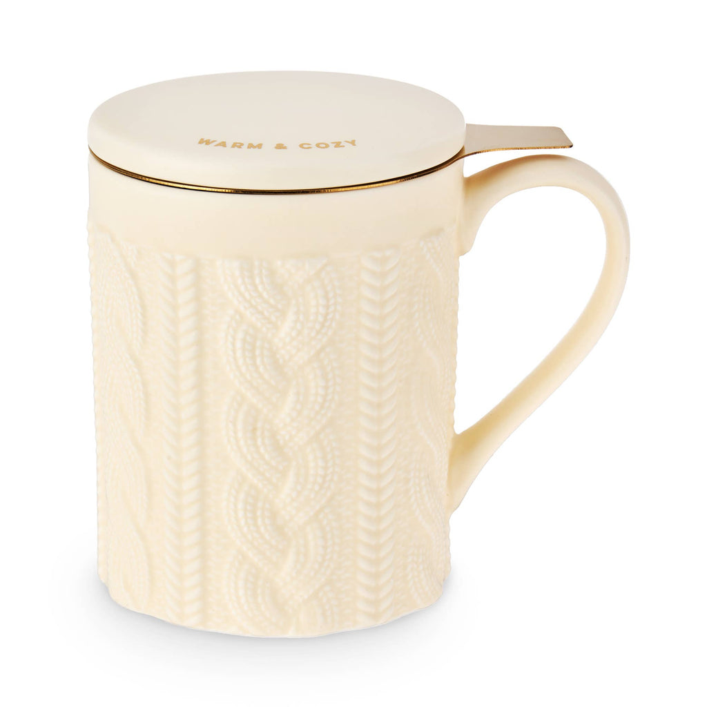 Annette™ Knit Ceramic Tea Mug & Infuser