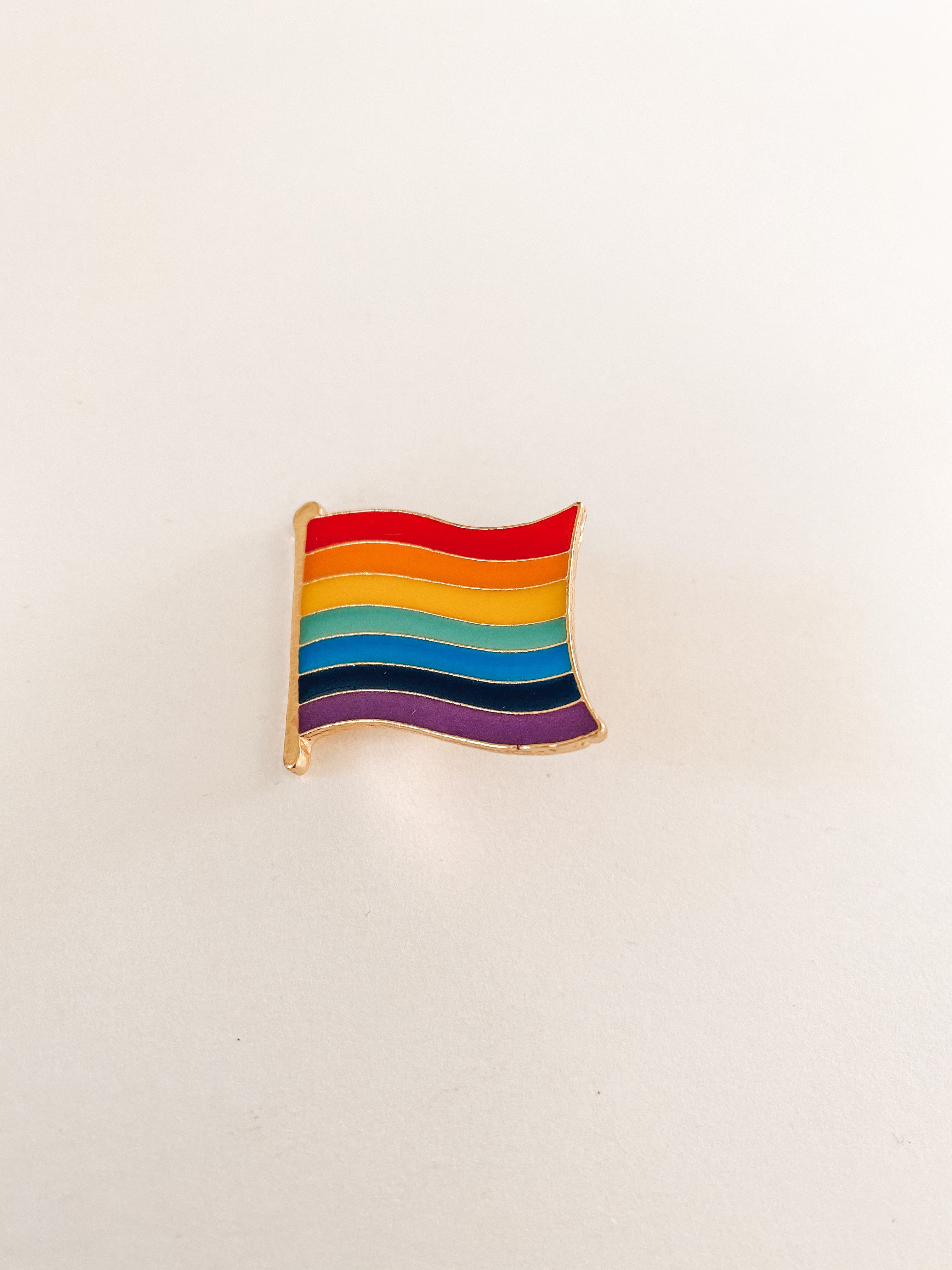 Rainbow Flag Enamel Pin