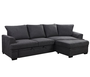 Alucio 3 Piece Sectional w/ Pull-out Sleeper
