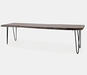 "Nature's Edge - 70"" Bench - Brushed Grey"