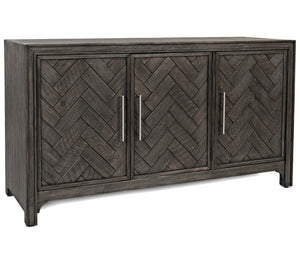 "Gramercy Chevron - 60"" Accent Cabinet - Grey"