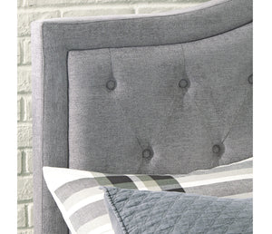 Jerary Tufted Curve Upholstered bed