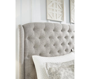 Jerary Tufted Wing Upholstered bed