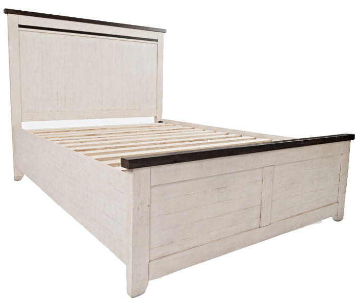 Madison County - Vintage White - Panel Bed