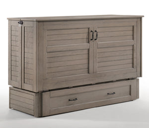 Poppy Murphy Cabinet Bed w/ Mattress - Brushed Driftwood