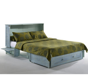 Poppy Murphy Cabinet Bed w/ Mattress - Sky