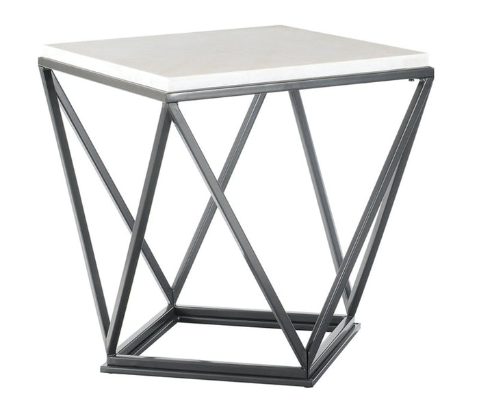 Riko End Table - White Marble