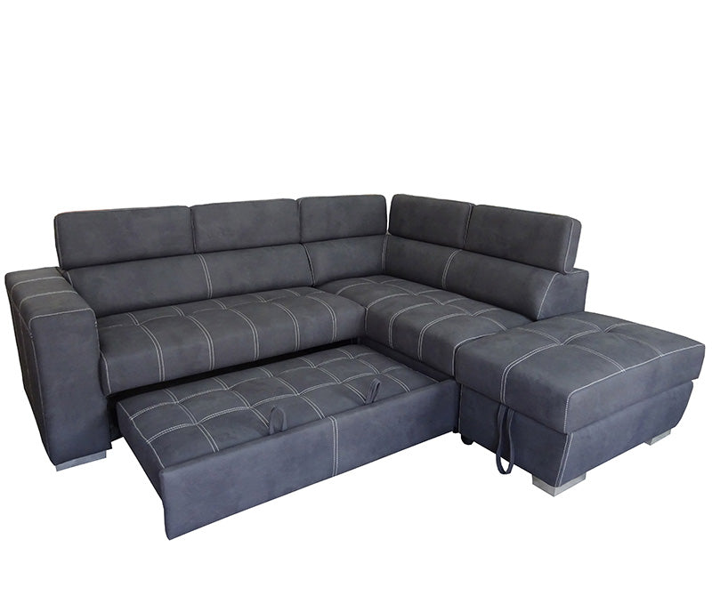 Abby 3 Piece Sectional W Sleeper Jag S Furniture Amp Mattress