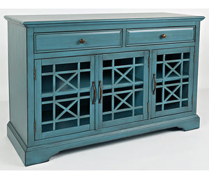 "Craftsman 50"" Accent Cabinet - Antique Blue"